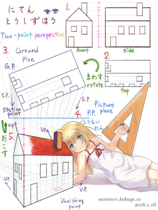 果ての果て(修正)〜透視図法の練習