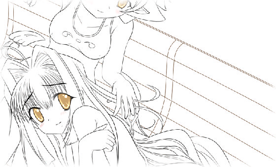 サムネイル画像 - 御翼&羽(下書き)