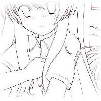 thumbnail-mini-一にち一まい・るはめくり〜晴華瑠波&風峰涼香(線画)
