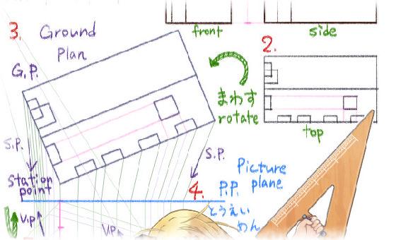 サムネイル画像 - 果ての果て(修正)〜透視図法の練習
